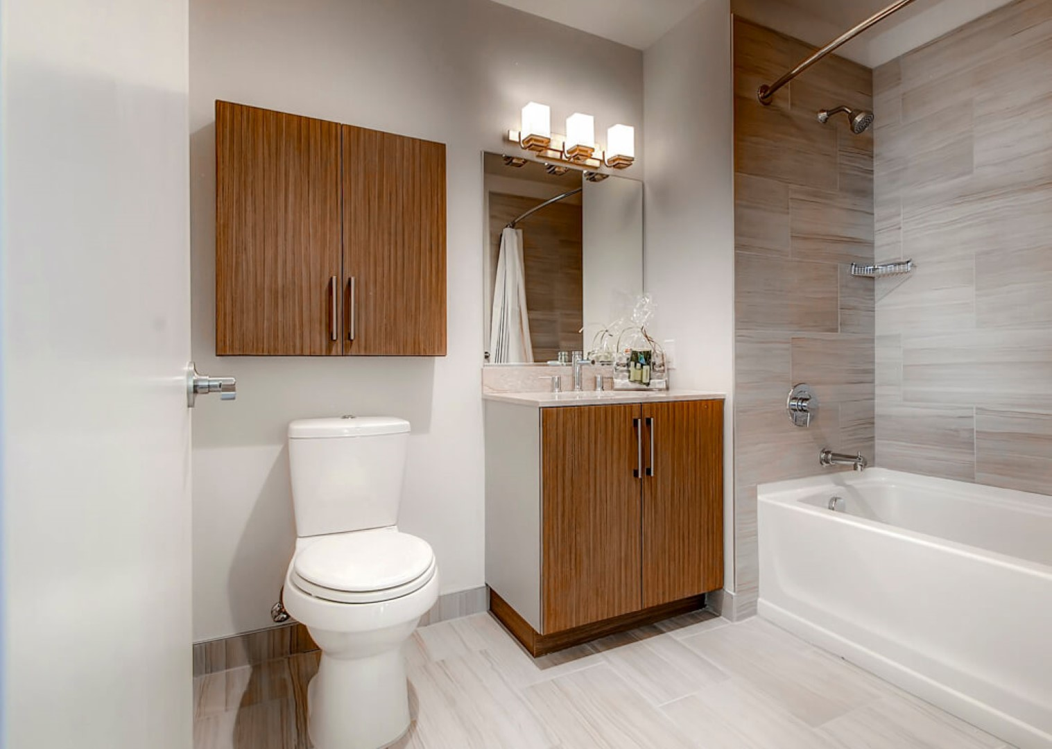 Bathroom at M2 Apartments, Hudson Exchange, Jersey City - Citybase Apartments