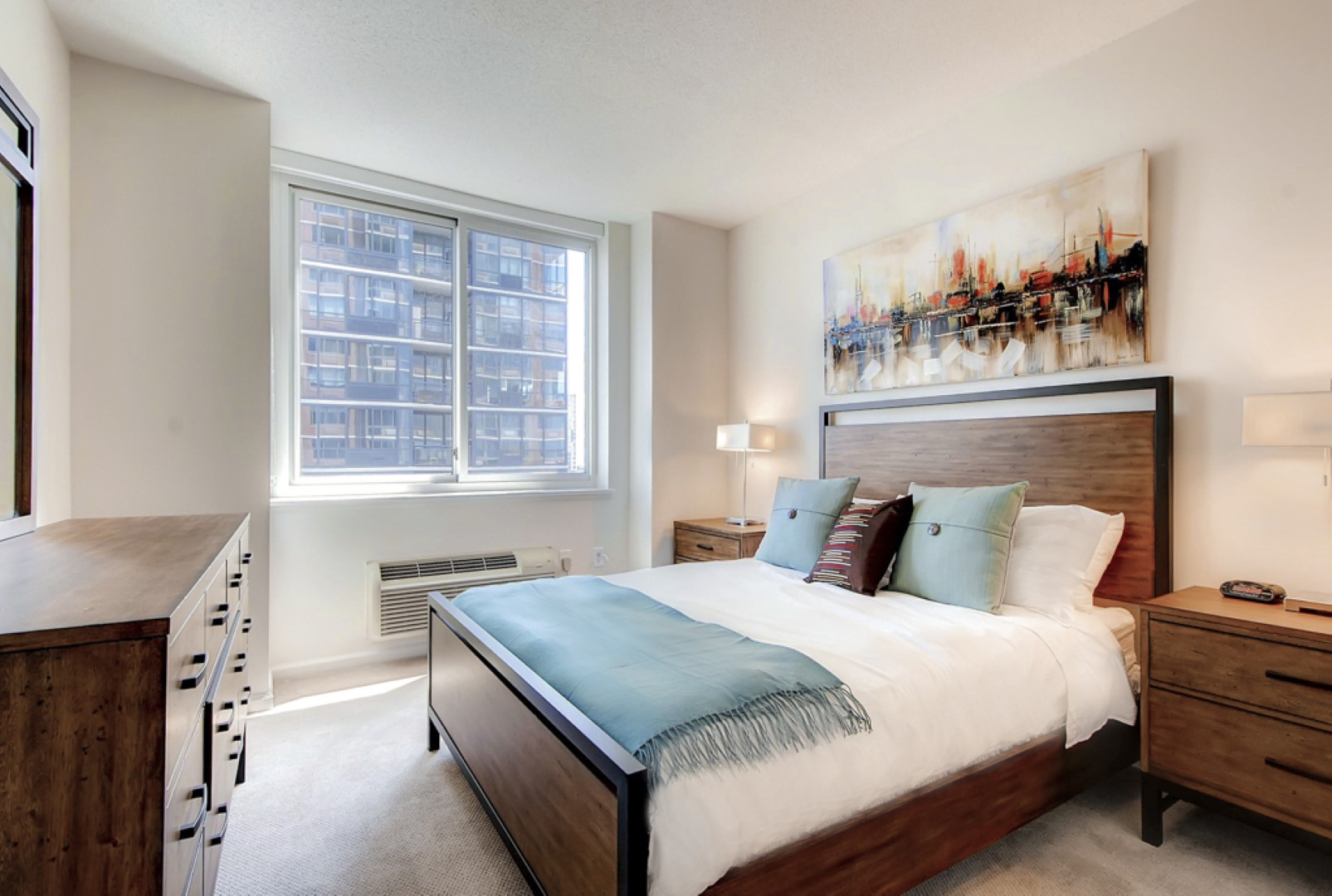 Bedroom at M2 Apartments, Hudson Exchange, Jersey City - Citybase Apartments