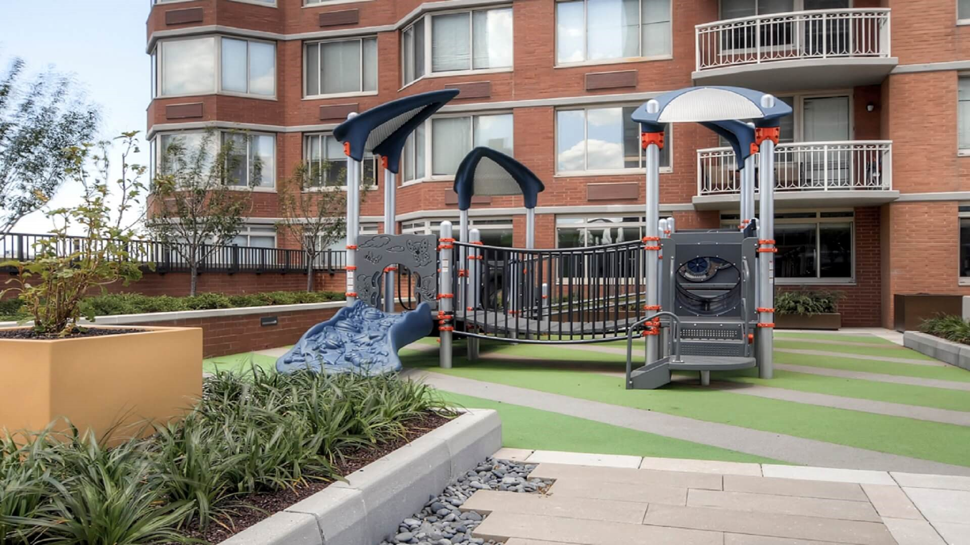 Playground at M2 Apartments, Hudson Exchange, Jersey City - Citybase Apartments