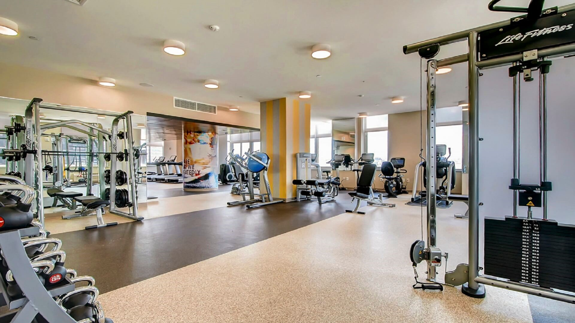 Gym at M2 Apartments, Hudson Exchange, Jersey City - Citybase Apartments