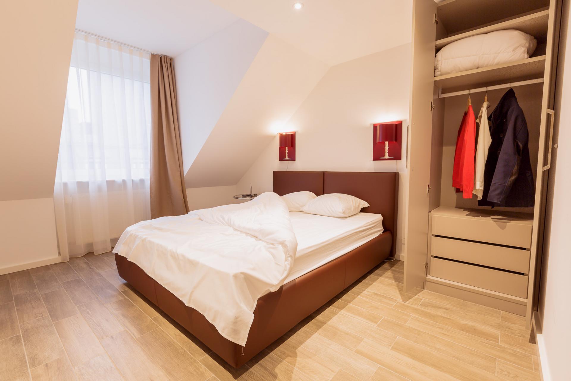 Bed at Brera Elbestrasse 29 - Citybase Apartments