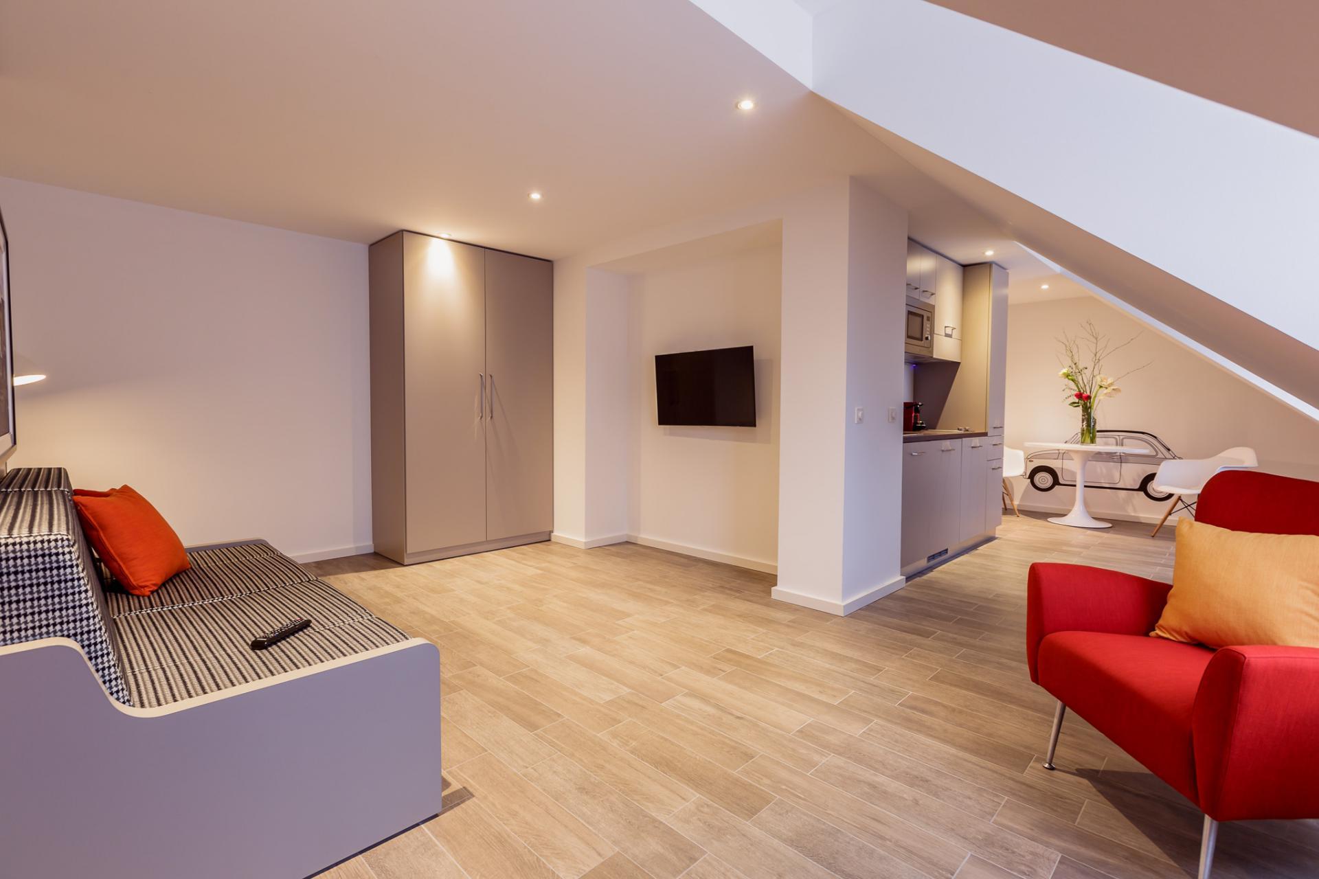 TV at Brera Elbestrasse 29 - Citybase Apartments