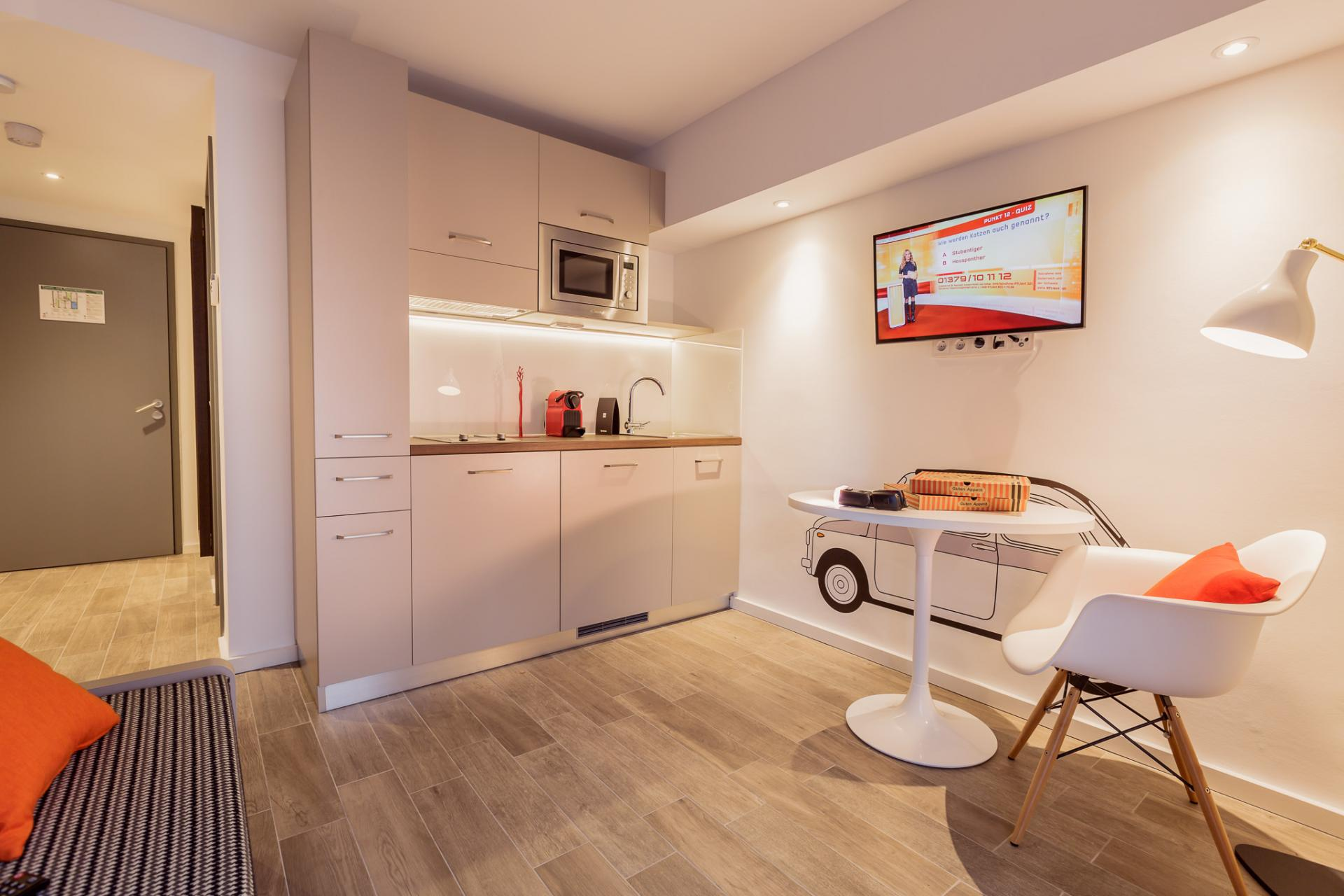Kitchen at Brera Elbestrasse 29 - Citybase Apartments