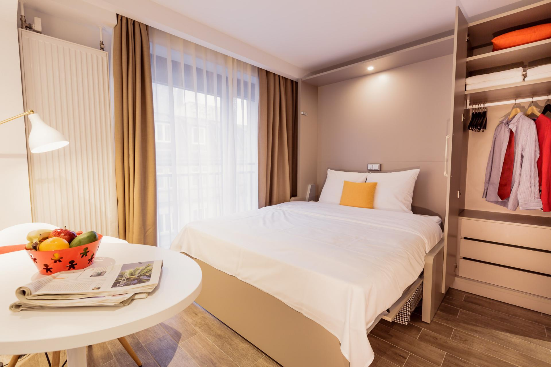 Bedroom at Brera Elbestrasse 29 - Citybase Apartments