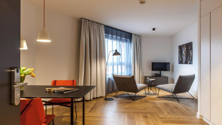Lounge at the Smartments Wien Hauptbahnhof - Citybase Apartments