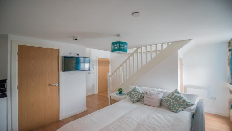 Sofa bed at Design Haus Apartments - Citybase Apartments
