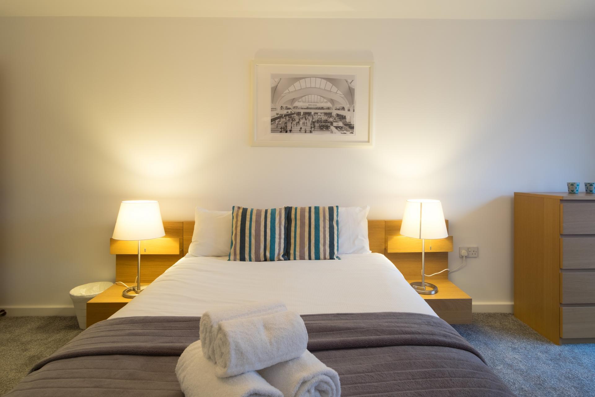 Bright bedroom at  Ryland Street Apartment - Citybase Apartments
