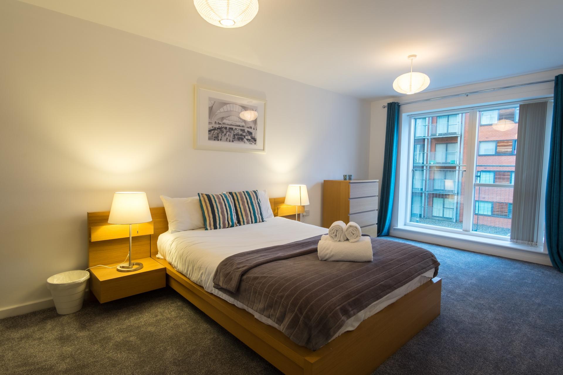 Spacious bedroom at  Ryland Street Apartment - Citybase Apartments