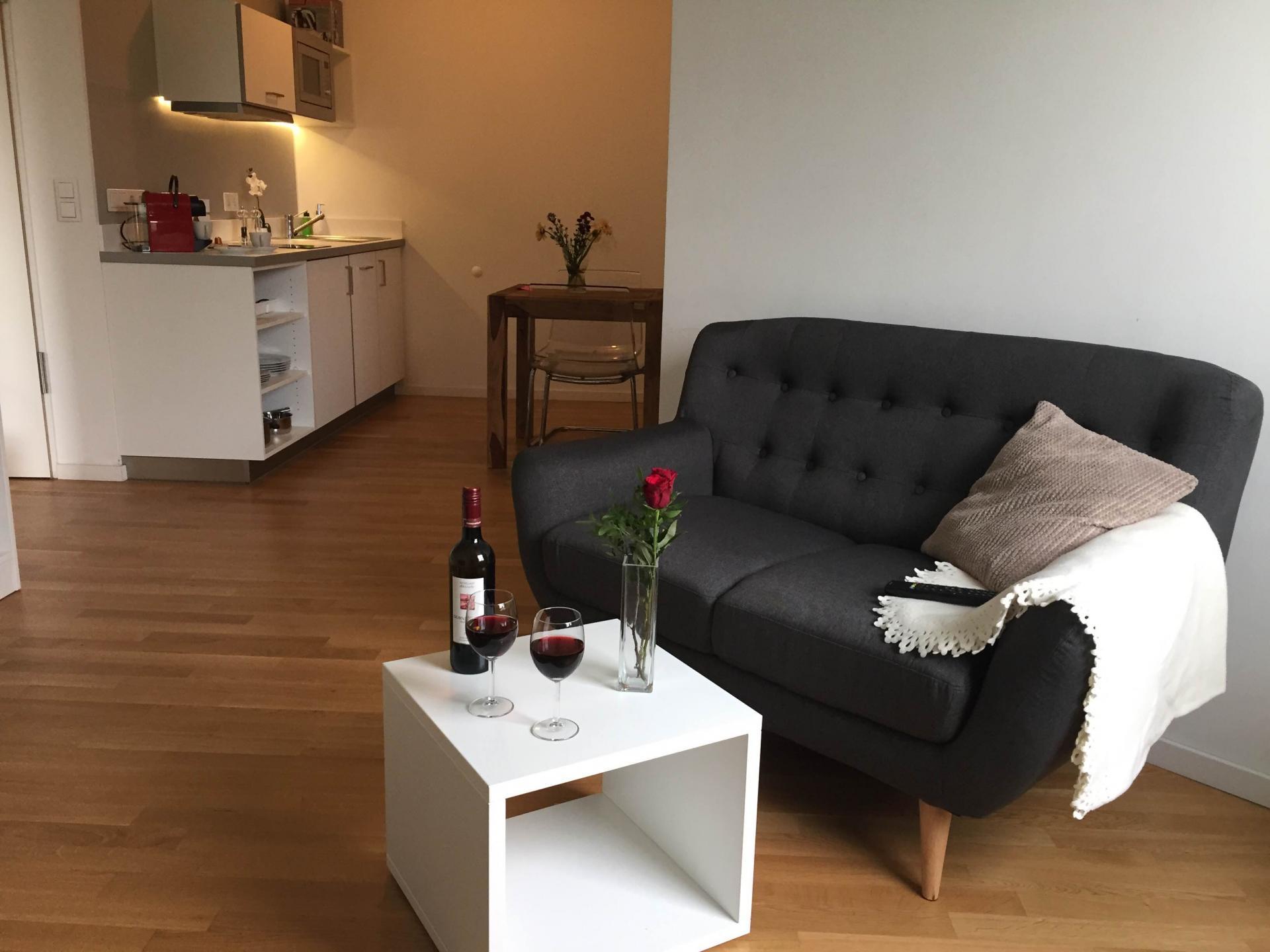 Sofa at ABrera Am Plaerrer 2 Apartments - Citybase Apartments
