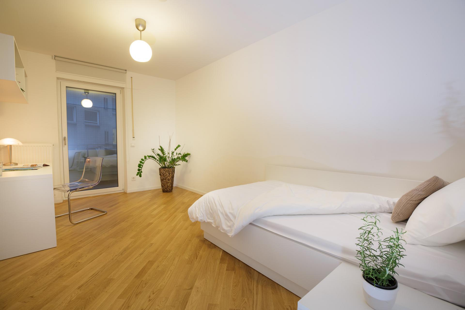 Single bed at Brera Am Plaerrer 2 ApartmentsBrera Am Plaerrer 2 Apartments - Citybase Apartments