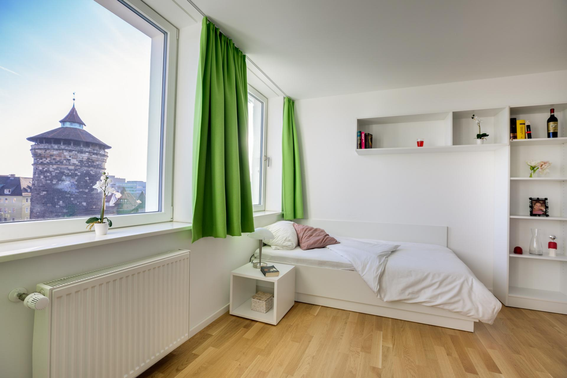 Bright living area at Brera Am Plaerrer 2 Apartments - Citybase Apartments