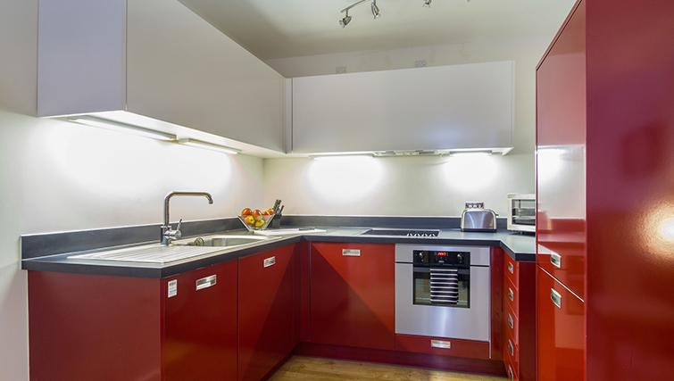 Modern kitchen at The Post Box Apartments - Citybase Apartments