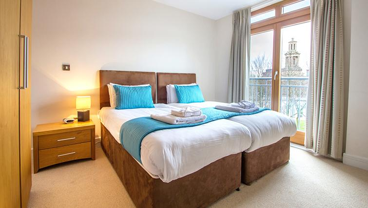 En-suite bedroom in The Post Box Apartments - Citybase Apartments