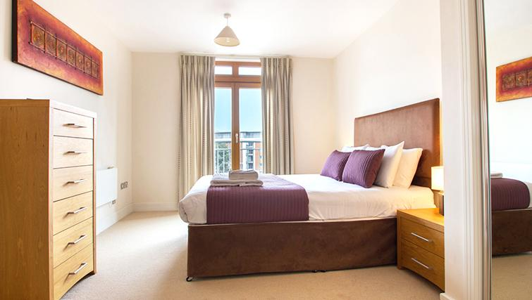 Spacious bedroom at The Post Box Apartments - Citybase Apartments