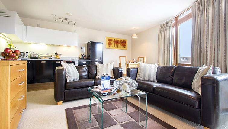 Comfortable living area t The Post Box Apartments - Citybase Apartments