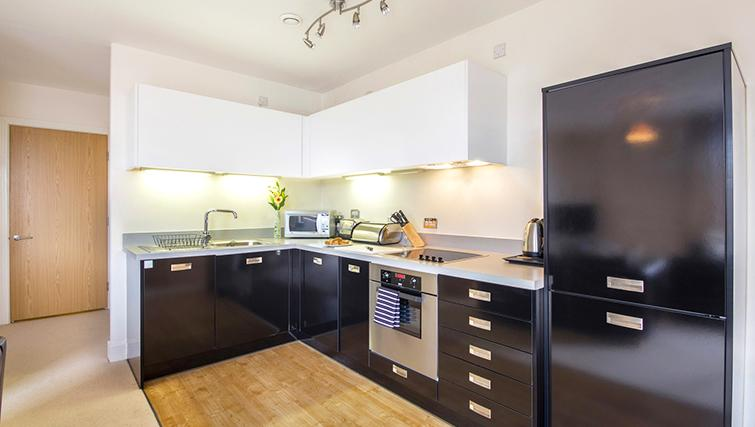 Open plan kitchen in The Post Box Apartments - Citybase Apartments