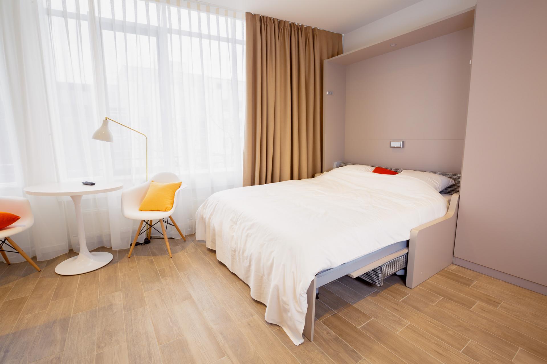 Sofa bed at Brera Westendstrasse 170 Apartments - Citybase Apartments
