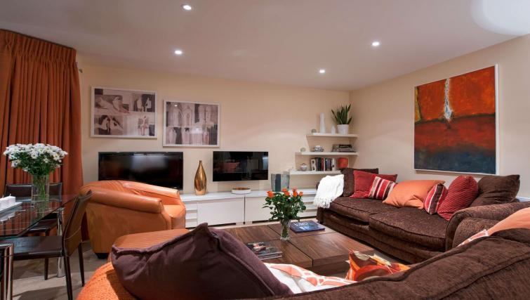 Living area at Finborough Road Apartment - Citybase Apartments