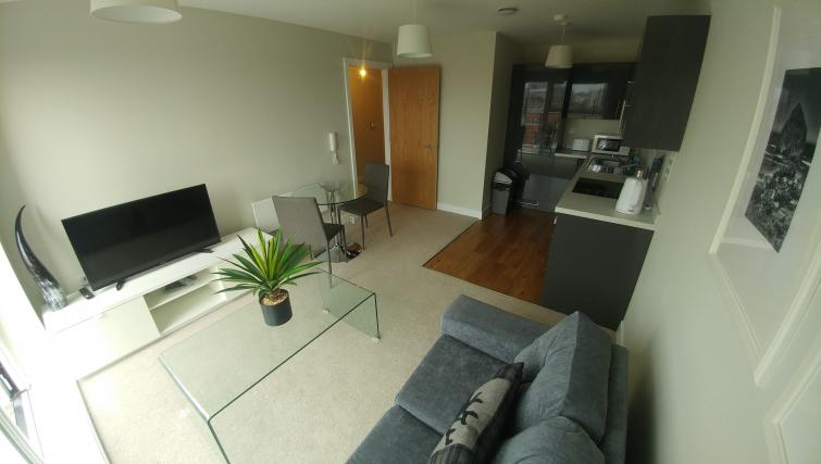 Living area at Bridgewater Gate Apartments - Citybase Apartments