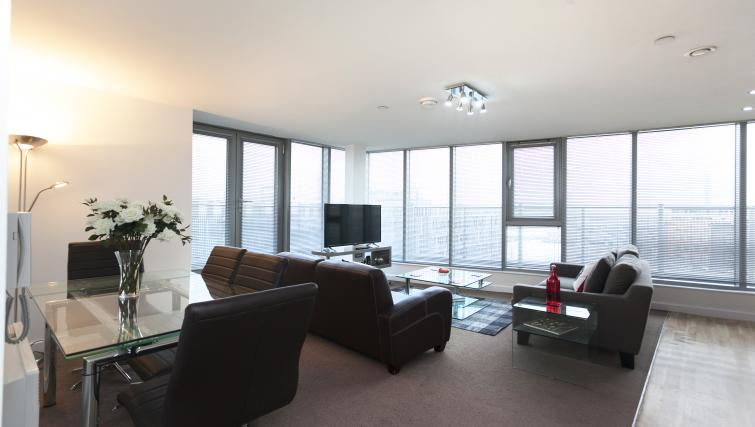 Living area at Crown Court View Apartment - Citybase Apartments