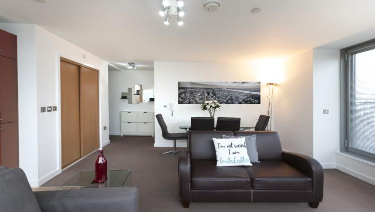 Dining area at Crown Court View Apartment - Citybase Apartments
