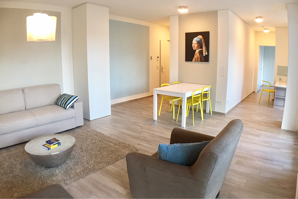 Living room at Ohmstrasse Apartment - Citybase Apartments