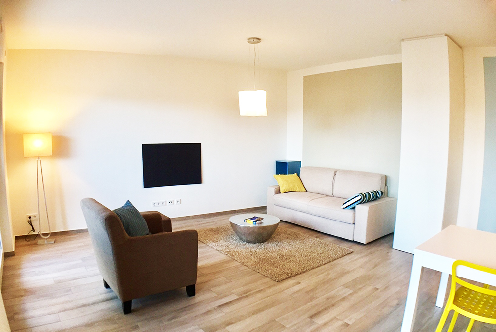 Lounge at Ohmstrasse Apartment - Citybase Apartments
