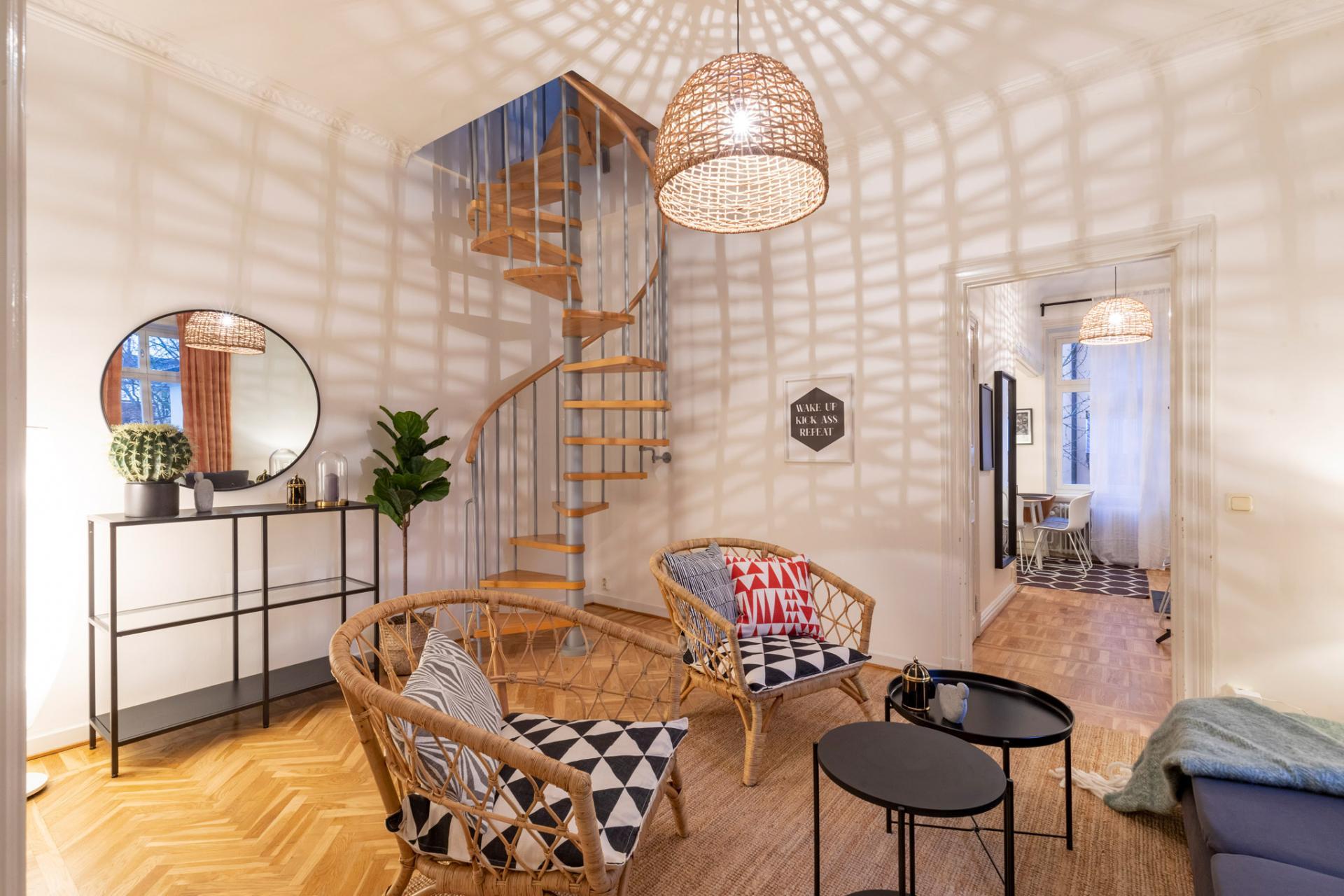 Stairs at Kocksgatan Apartments - Citybase Apartments