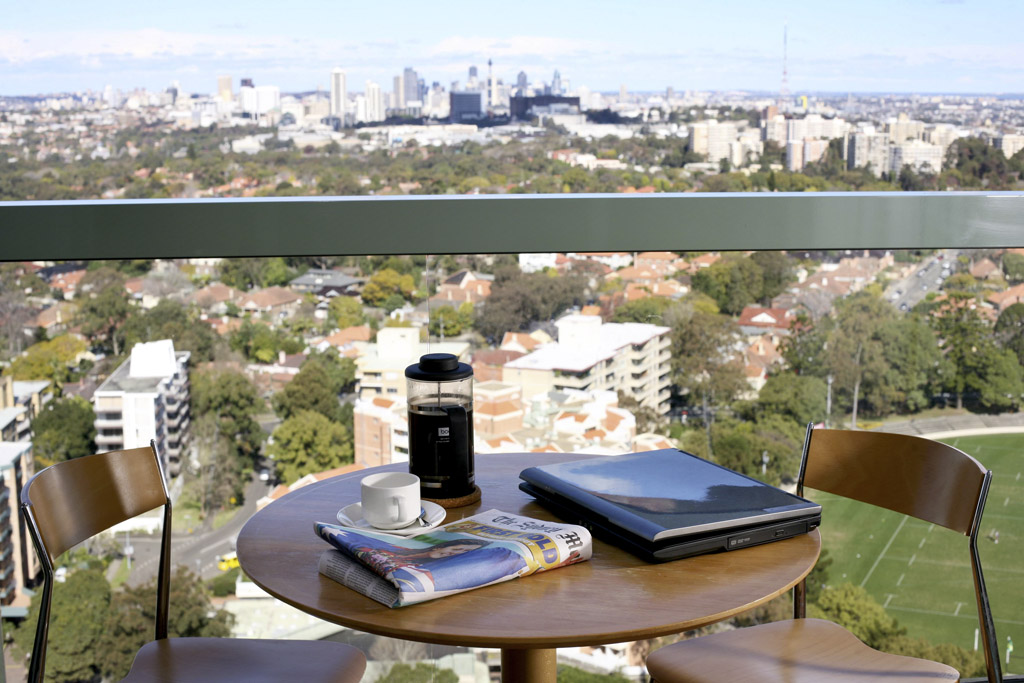 Balcony at The Sebel Sydney Chatswood Apartments, Chatswood, Sydney - Citybase Apartments