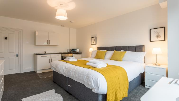 Bedroom at the West Street Studios - Citybase Apartments