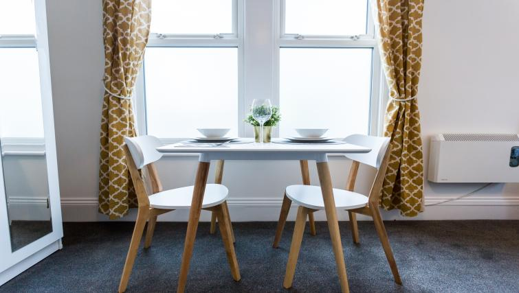 Dining table at the West Street Studios - Citybase Apartments