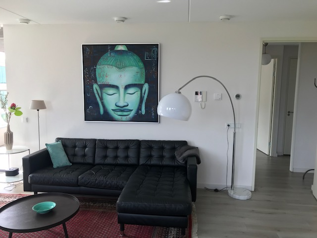 Leather sofa at Stationslaan Apartment, Centre, Breda - Citybase Apartments