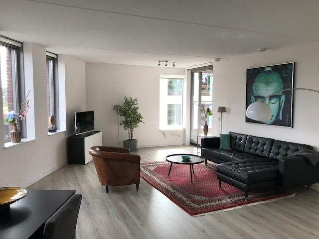 Spacious lounge at Stationslaan Apartment, Centre, Breda - Citybase Apartments