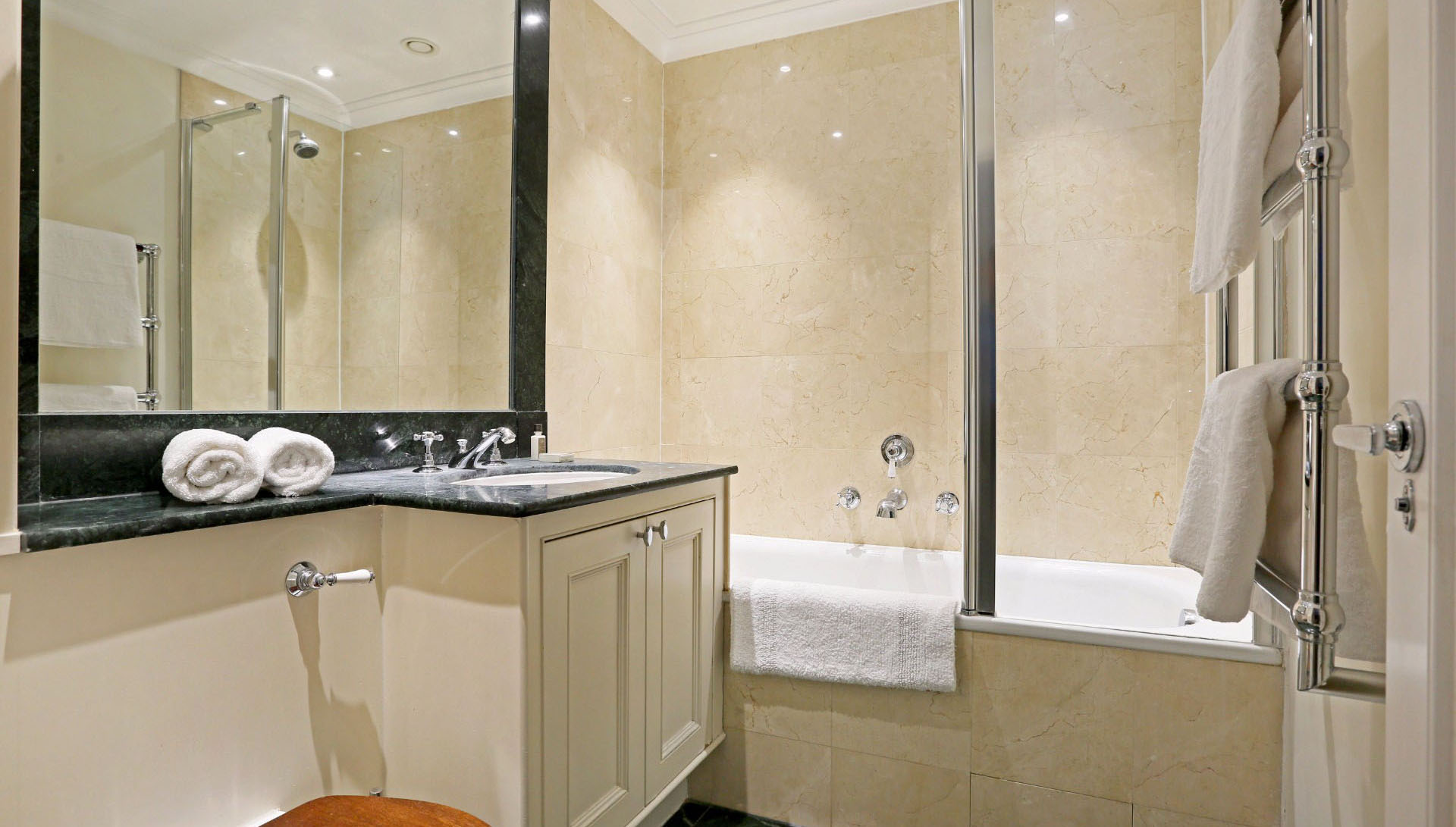 Bathroom at Clark House Apartment - Citybase Apartments