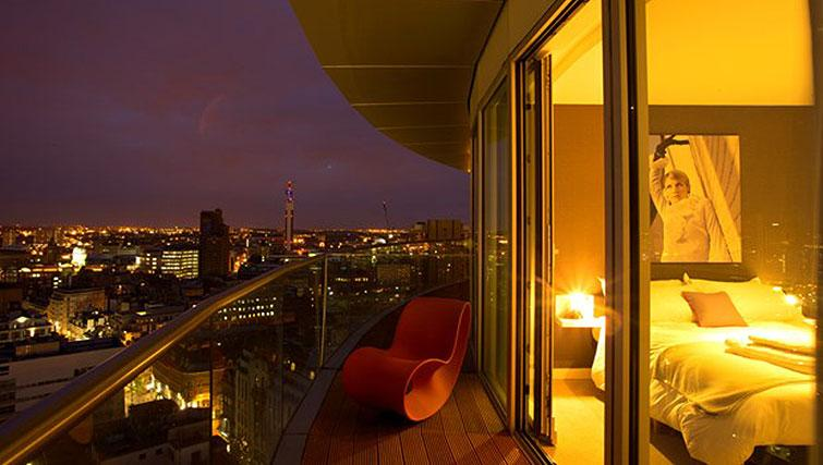 Large balcony at Staying Cool at The Rotunda - Citybase Apartments