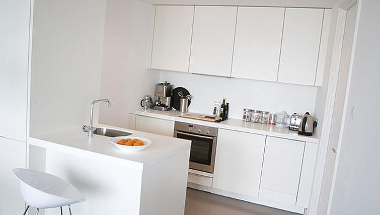 Fully equipped kitchen at Staying Cool at The Rotunda - Citybase Apartments