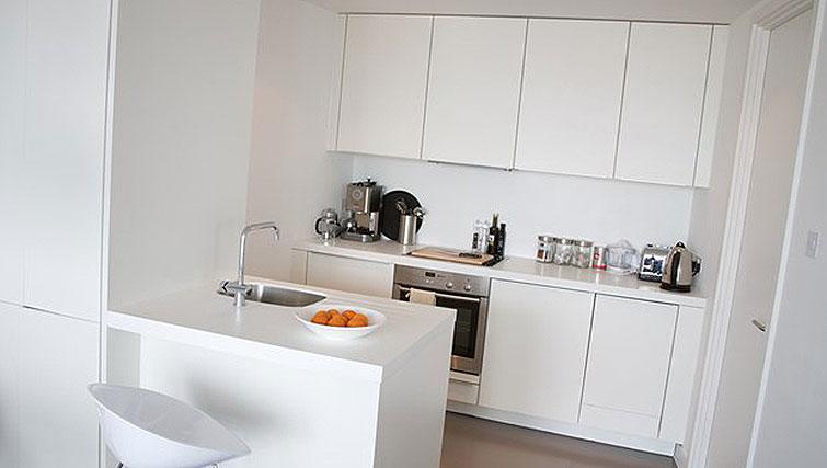 Modern kitchen at Staying Cool at The Rotunda - Citybase Apartments