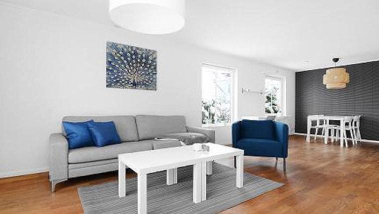 Living area at Ribegatan Apartment - Citybase Apartments