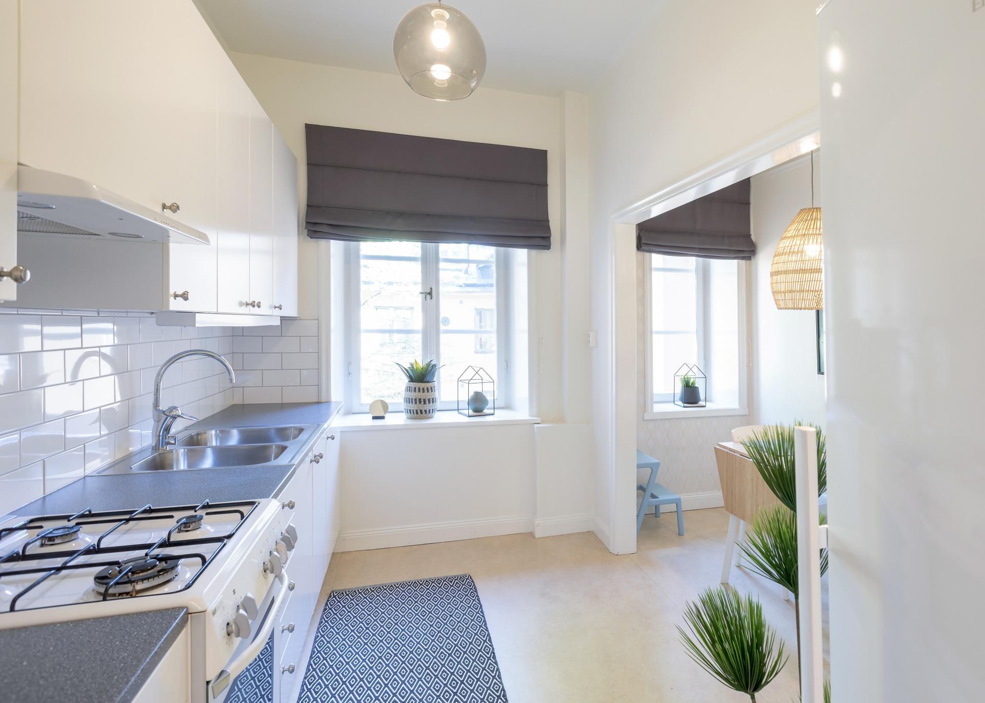 Kitchen at Pontonjärgatan Apartments, Marieberg, Stockholm - Citybase Apartments