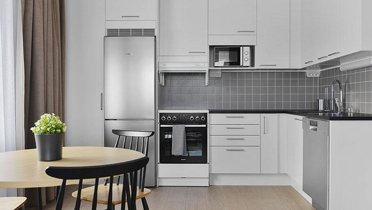 Kitchen at Stockholm South Apartments - Citybase Apartments