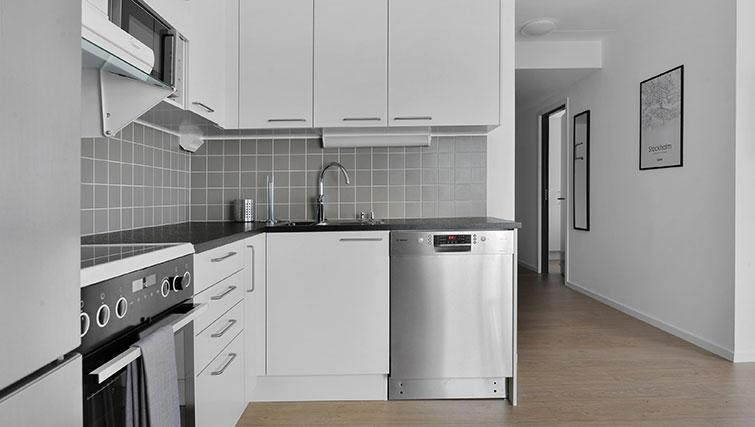 Modern kitchen at Stockholm South Apartments - Citybase Apartments