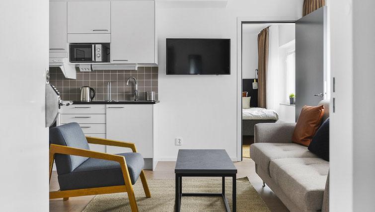 TV at Stockholm South Apartments - Citybase Apartments