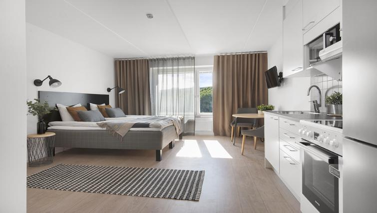 Bright bedroom at Stockholm South Apartments - Citybase Apartments