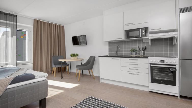 Spacious living area at Stockholm South Apartments - Citybase Apartments