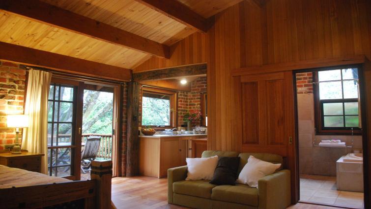 Kitchen at Rocky Creek Art Garden Studio - Citybase Apartments