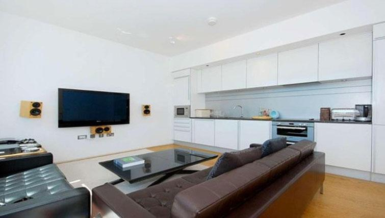 Living room at Still Life King's Cross Superior Apartment - Citybase Apartments