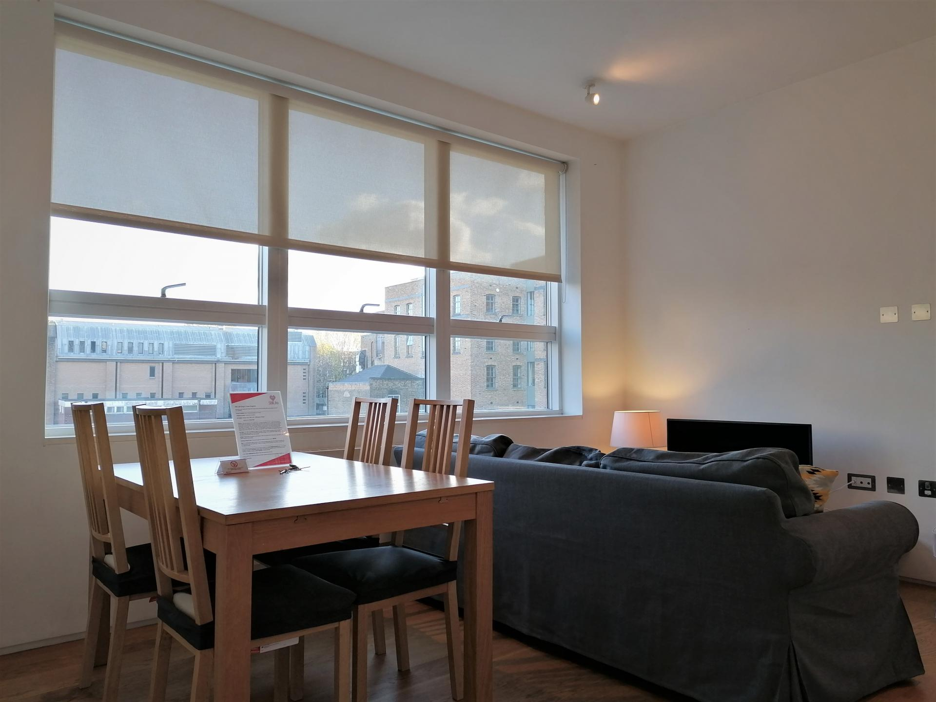 Living room at Still Life King's Cross Superior Apartment, Kings Cross St Pancras, London - Citybase Apartments