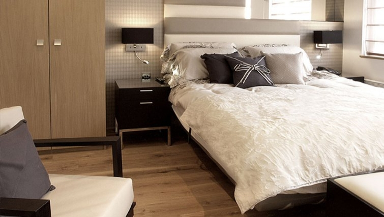Delightful bedroom in Space Apartments - Citybase Apartments