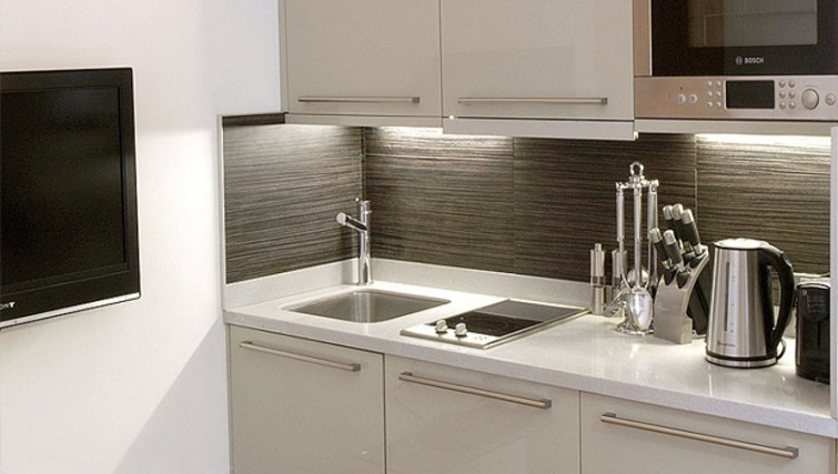 Stylish kitchen in Space Apartments - Citybase Apartments