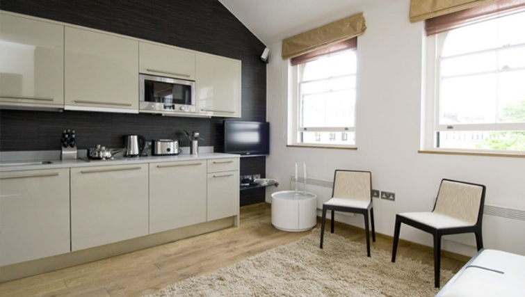 Open-plan kitchen in Space Apartments - Citybase Apartments